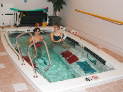 swimex pool with 2 ladies